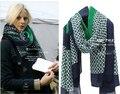 Внешняя торговля оригинальный одного супер красивый Зеленый Шарф негабаритных шаль дамы ветра высокое атмосферное ветер теплый шарф