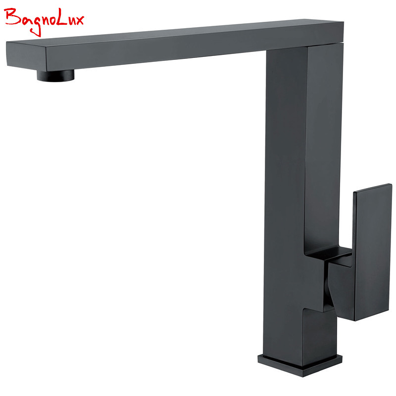 Top Fashion New Arrival High Quality Matt Black Single Handle Faucet 360 Swivel Spout Contemporary Kitchen