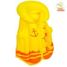 Желтая детская безопасная ТОЛСТАЯ ПВХ надувная Спасательная куртка купальный костюм купальный жилет детский надувной спасательный жилет детский купальный жилет одежда