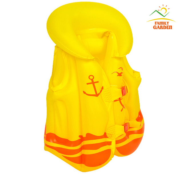 yellow child safety thick pvc inflatable life jacket. Black Bedroom Furniture Sets. Home Design Ideas