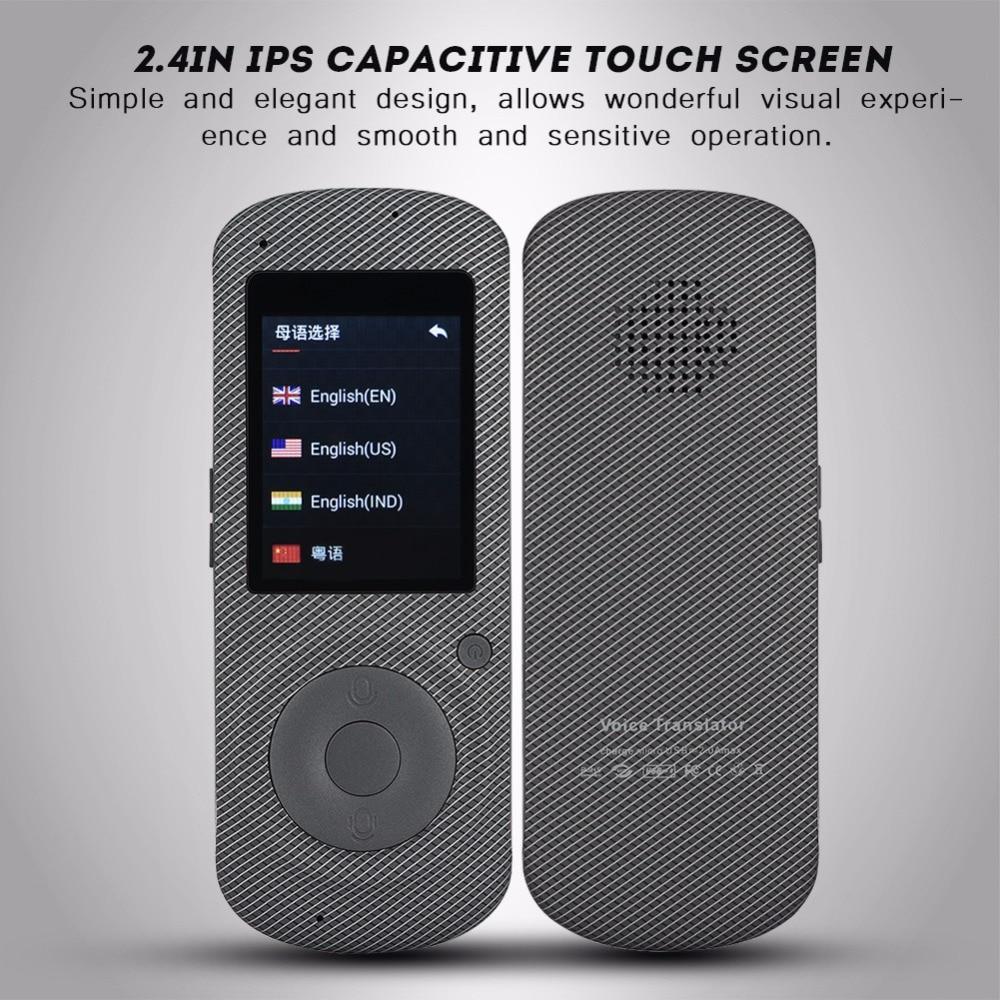 Intelligent Language Voice Translator WiFi Instant Portable Translator 2 Way Real-Time Translation Traveling Meeting Translator 13