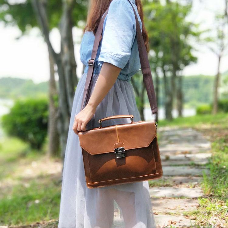 Vintage England Style Women Bag Horizontal Literary Girls' Handbag Fashion Shoulder Messenger Bag Dress OL Casual Briefcase