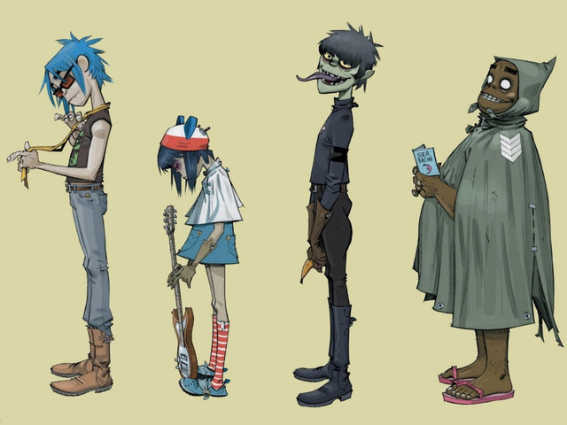 P0424 Gorillaz Noodle Murdoch Russell Thec Band Music Background art poster 40x60cm