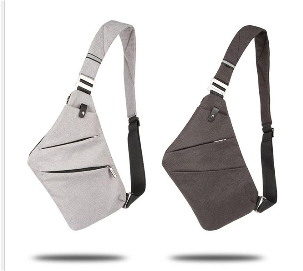 Men's Chest Pack Bags Men Single Shoulder Bags Waterproof Nylon Crossbody Bags Crossbody Bag Nylon Waterproof Sling Backpack