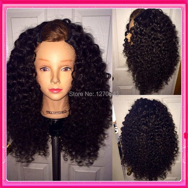 13%Unprocessed  curly virgin u part human hair wigs u shaped ...