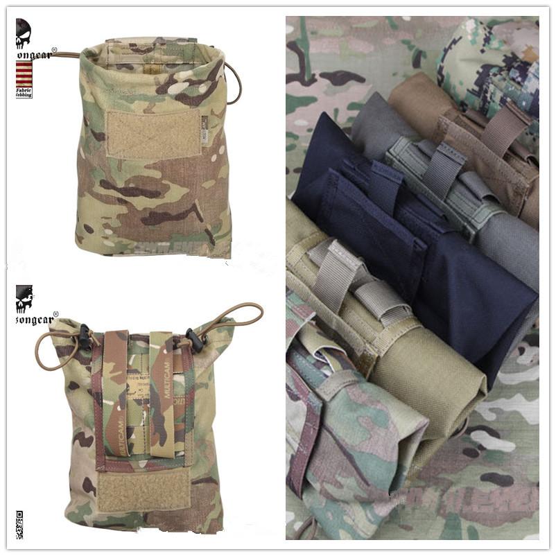 Prix pour Nouveau EMERSON Grande Capacité Taille Molle Militaire Tactique Airsoft Paintball Chasse Pliant Mag Récupération Dump Pouch MC CB MCBK $