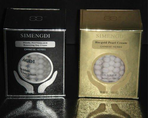 Ķīna famouse zīmols Face Cream Jauns 1 BOX SIMENGDI Phyto-Silver + 1 kaste Bio-Gold Pearl & Herbs Anti-Aging Day & Night Balancing M