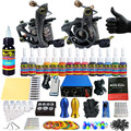 Solong Tattoo 2 Pro Machine Guns Tattoo Kit Power Supply Needle Grips 14 Ink Color Makeup Set  TK203-24