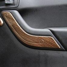 Внутри abs автомобилей дверные ручки отделкой безопасность блокировка крышки kikt для Jeep Wrangler автомобиль 2011-2017 внутренняя Protector Переводные картинки полосы