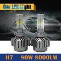 1 Par H7 80 W 8000LM Bombilla LED 6000 K Blanco de Alta Potencia Del Coche luz Corriente Diurna de Niebla de la Linterna Del Faro de La Lámpara DRL