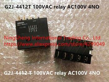 Original new 100% G2J-4412T 100VAC relay AC100V 4NO