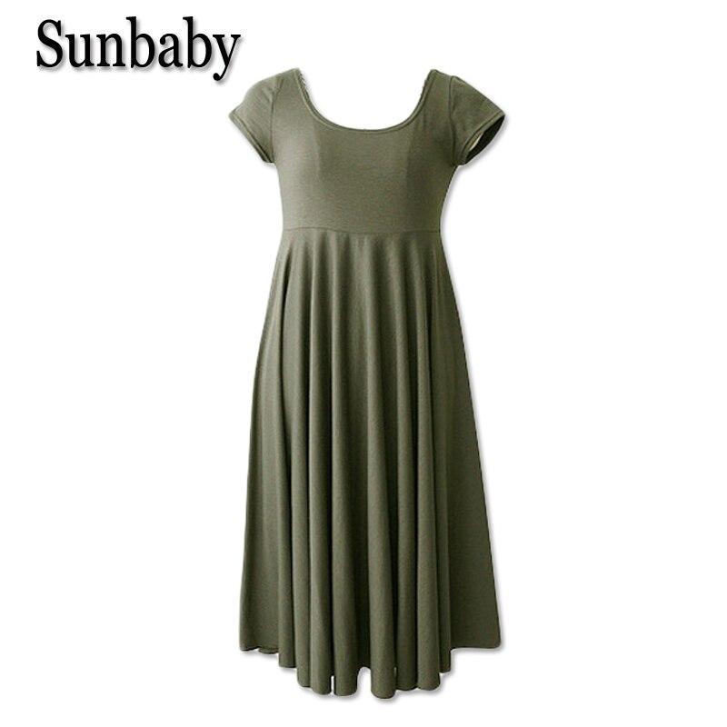 9212b4fd0a9bf Sunbaby Summer Korean Fashion maternity clothes Casual pregnancy dress  Short sleeve A line dress image