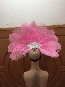 Image 2 - Accessori Di Moda squisita piume del copricapo Delicato di ballo di ballo latino Samba mostra accessori