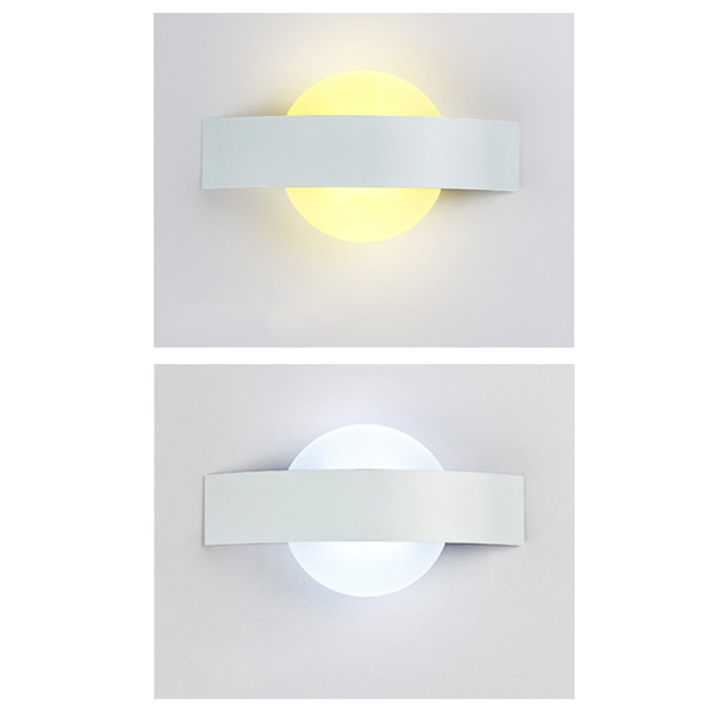 Modern Design Moon Acrylic Wall Light Led Indoor Wall Lamps Led Wall Sconce Lamp Lights for Bedroom Living Room Stair Drop Ship in LED Indoor Wall Lamps from Lights Lighting