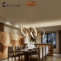 Plated Golden Body Hanging Lamp Modern LED Pendant Lights For Living Room Dining Room Bedroom Study Room Home LED Pendant Lamps