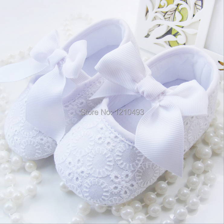 e00ea5e79 2014 Pure White Girls Newborn Baby Prewalker Shoes Infant Toddler ...