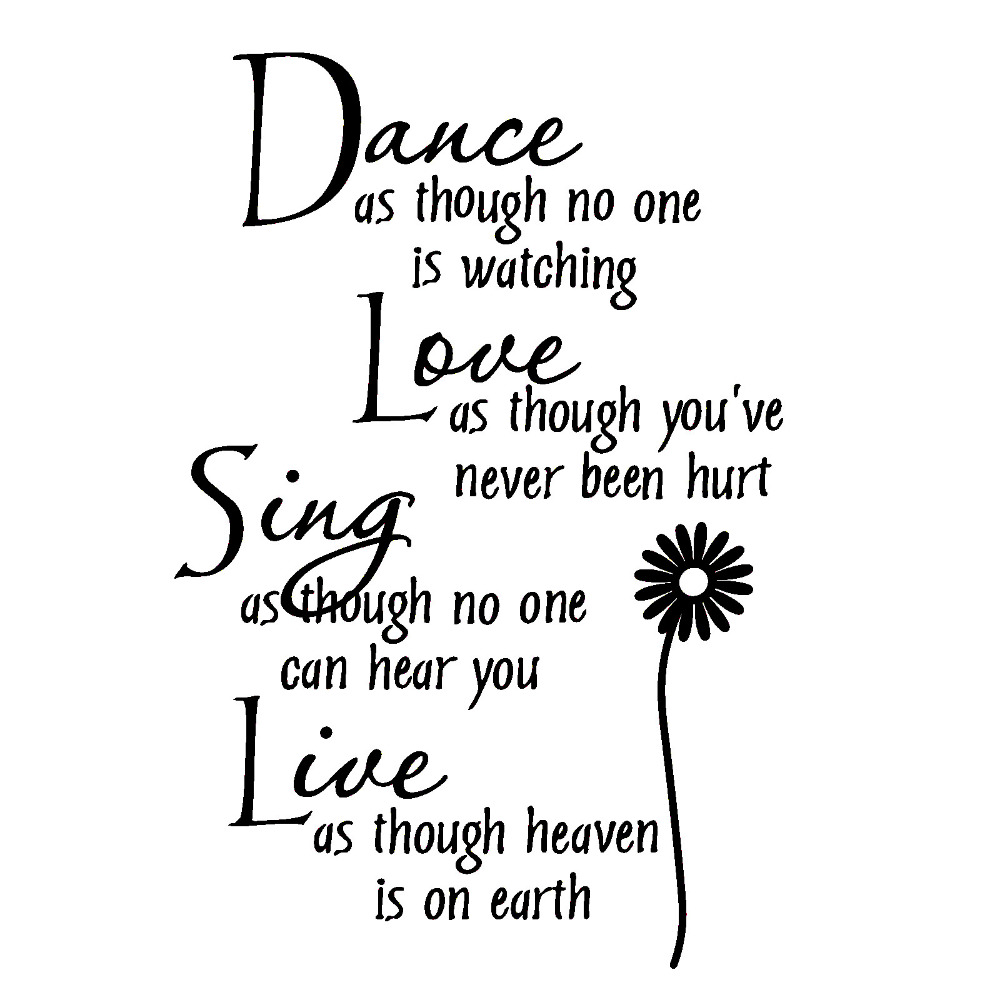 popular dance sing buy cheap dance sing lots from dance sing dance love sing live black words character diy wall stickers for home house living room bedroom