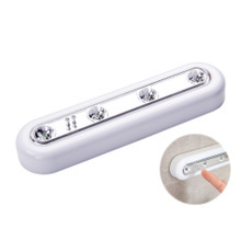 1Pcs Touch Induction Lamp Intelligent Creative Pat Home Bedside Wardrobe Cupboard 4LED Night Light