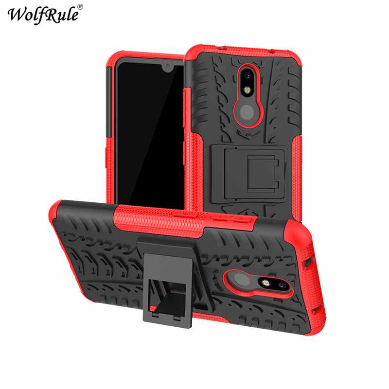 "Image 2 - Phone Case sFor Nokia 3.2 Case 6.26"" Dual Layer Armor Shells TPU+PC Shockproof Cover For Nokia 3.2 Cover For Nokia 3.2 2019 Case-in Fitted Cases from Cellphones & Telecommunications"
