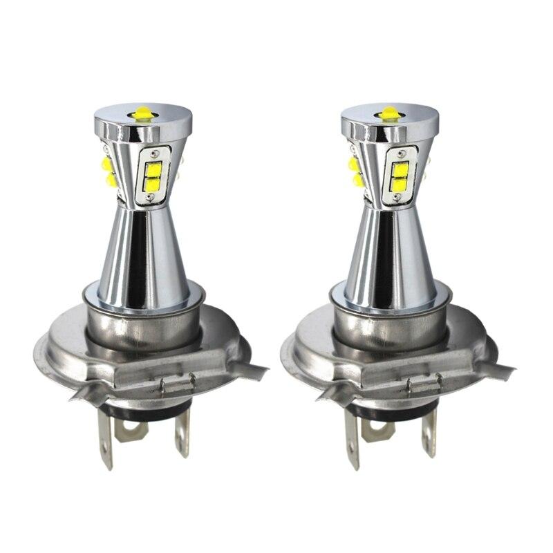 LED Fog Light Bulbs 2pcs H4 9003 HB2 45W 1000LM LED High Power Headlight Hi/Lo Beam Bulbs 6000K
