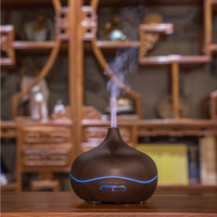 TBonlyone 300ML Wood Home Office Air Ultrasonic Humidifier Essential Oil Aroma Lamp Diffuser Ultrasonic Aromatherapy Diffuser