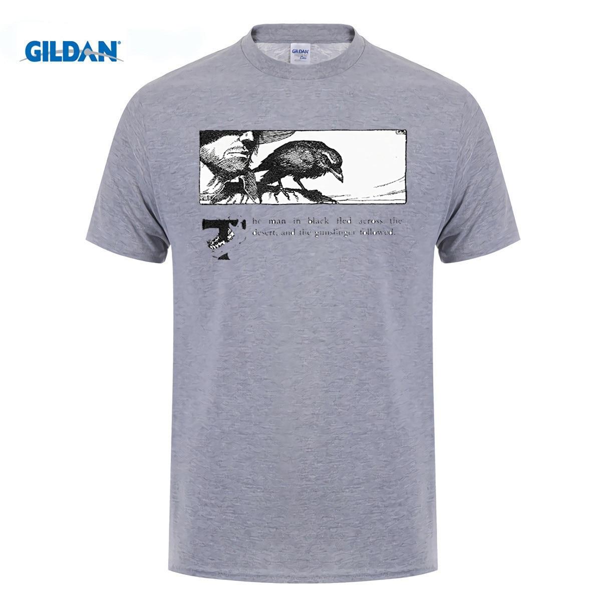 Возьмите 100% хлопок o-образным вырезом печатных футболка Темная Башня Стивен Кинг футболка