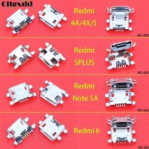cltgxdd 1pcs Micro USB connector 5pin USB jack socket female charging port for Xiaomi Redmi 4A 4X 5 plus 5plus 6 Note 5A(China)