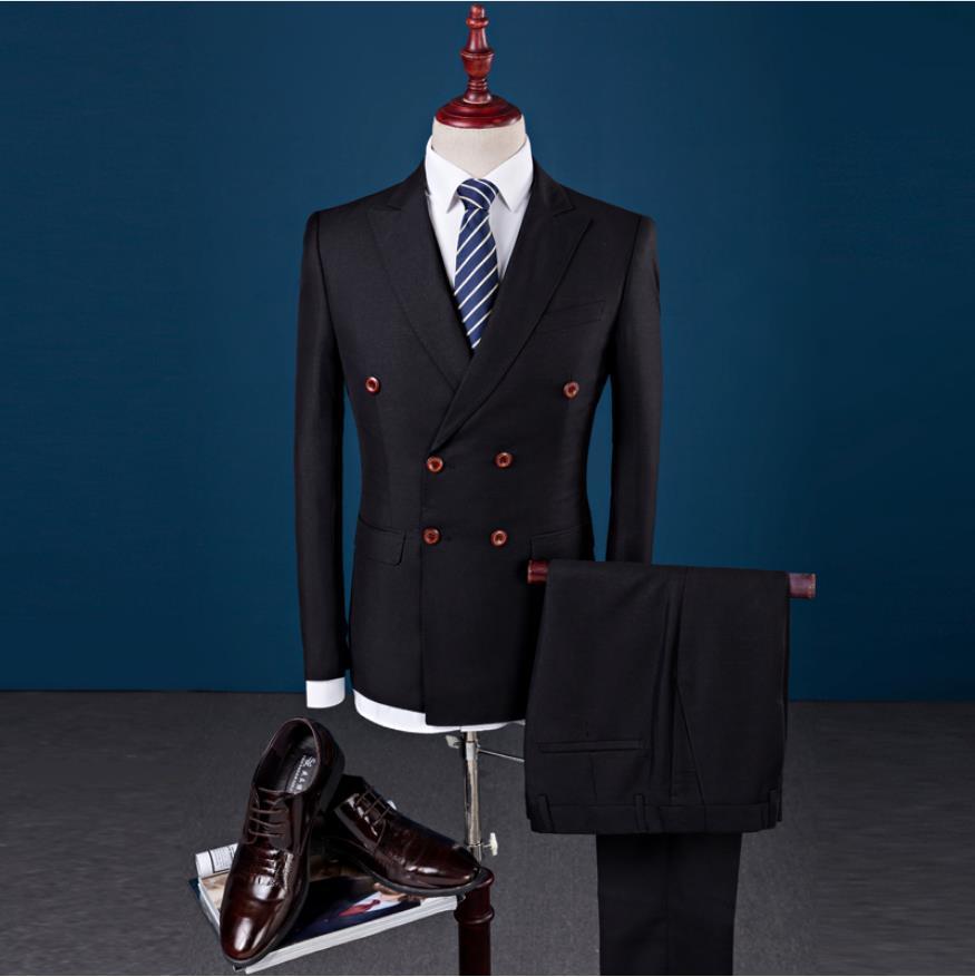 2019 Terno Slim Wedding Suits Casual Male Blazer Suit Men's Business Party Good Quality Suits Men (Jacket+Vest+Pants) trajes de