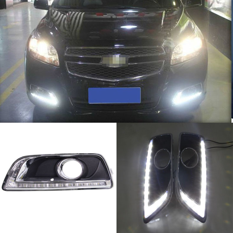 Brand New Updated LED Daytime Running Lights DRL With Black Fog Light Cover For Chevrolet Malibu чайный напиток имбирь и тулси