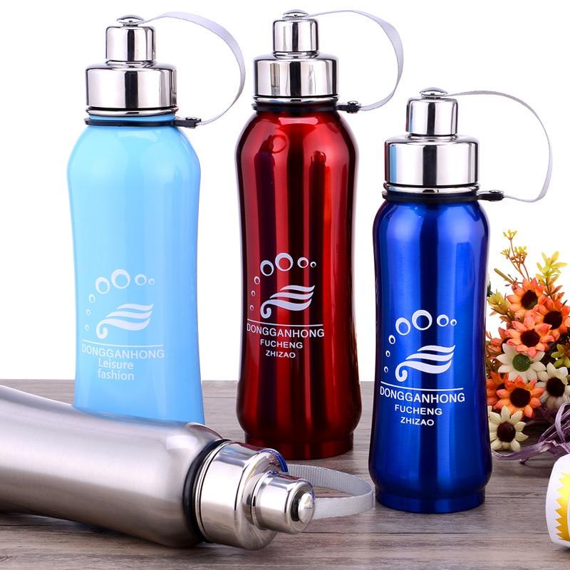Moda 4 colores deportes termo botella acero inoxidable termos frascos - Cocina, comedor y bar