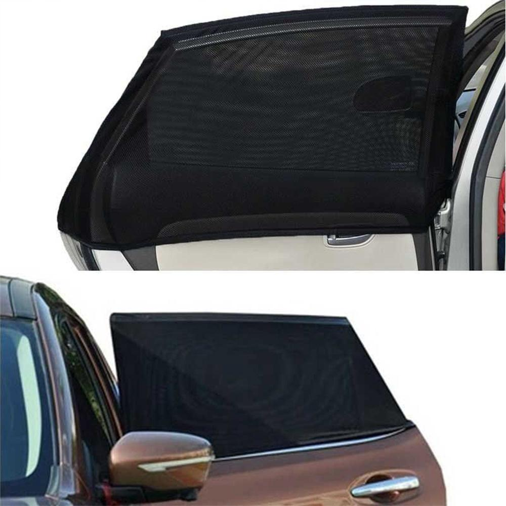Dsj 6pcs Silver Car Sun Shade Front Window Blind Screen Shield 1954 Chevy Rear For Blinds Black Silk Polyester Protector Durable Universal Sunshade