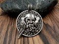 1pcs fashion necklace jewelry odin with ravens viking pendant viking amulet raven pendant norse jewelry odin pendant