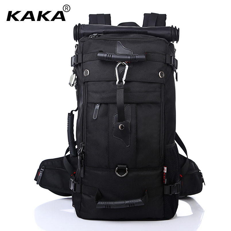 KAKA Men Backpack Travel Bag Large Capacity Versatile Utility Mountaineering Multifunctional Waterproof Backpack Luggage Bag design waterproof travel backpack outdoor mountaineering backpack patchwork super large luggage storage internal drawstring bag