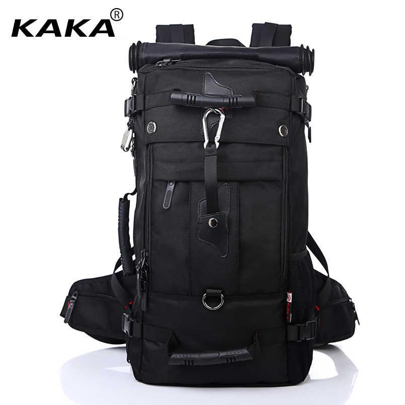 b8a1a24d3546 KAKA Men Backpack Travel Bag Large Capacity Versatile Utility Mountaineering  Multifunctional Waterproof Backpack Luggage Bag