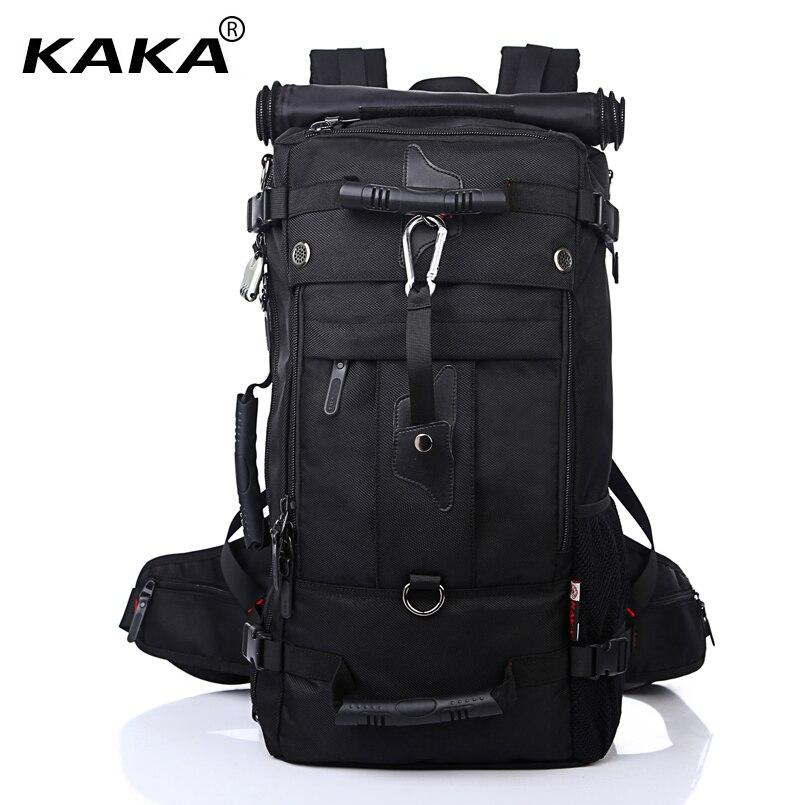 Kaka hombres bolsa de viaje mochila de gran capacidad versátil utilidad alpinismo mochila impermeable multifuncional bolsa de equipaje