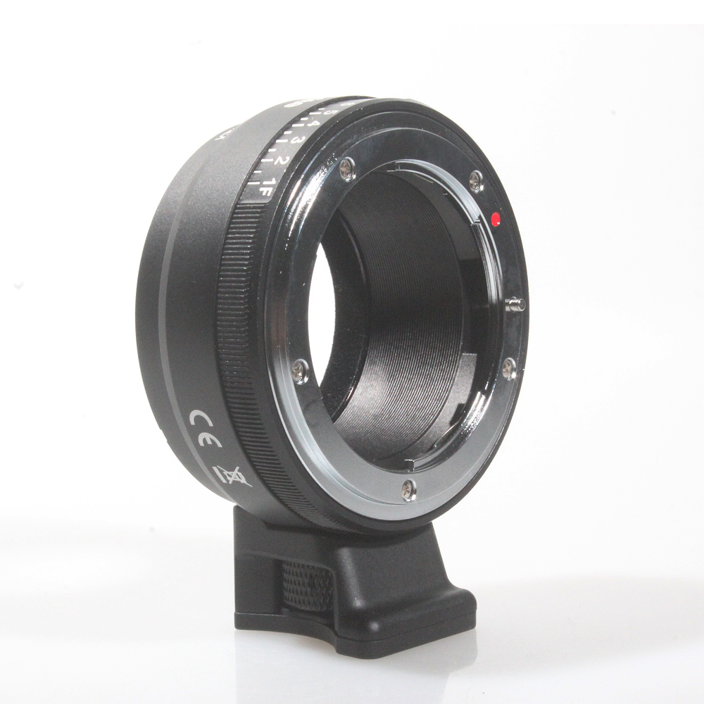 Commlite Lens Mount Adapter with Aperture Dial for Nikon G/DX/F/AI/S/D Type Lens to use for Sony E-Mount NEX Camera NF-NEX
