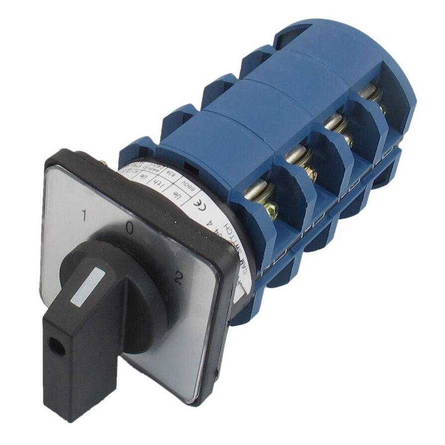 AC 660V 63A 3 Positions 4NO+4NO Rotary Selector Cam Changeover Switch ac 500v 16a 4 positions universal rotary cam changeover switch lw5d 16yh3 3