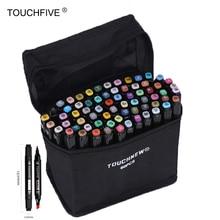 цены на Touchfive Art Marker 30/40/60/80/168 Colors Marker set Alcoholic Based Markers pen Dual Head Sketch Marker Brush Pen Black Pen  в интернет-магазинах