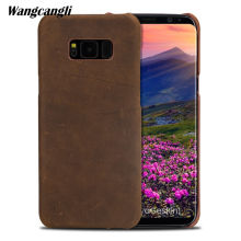 Fashion new leather retro crazy horse skin For Samsung S8 case handmade custom business