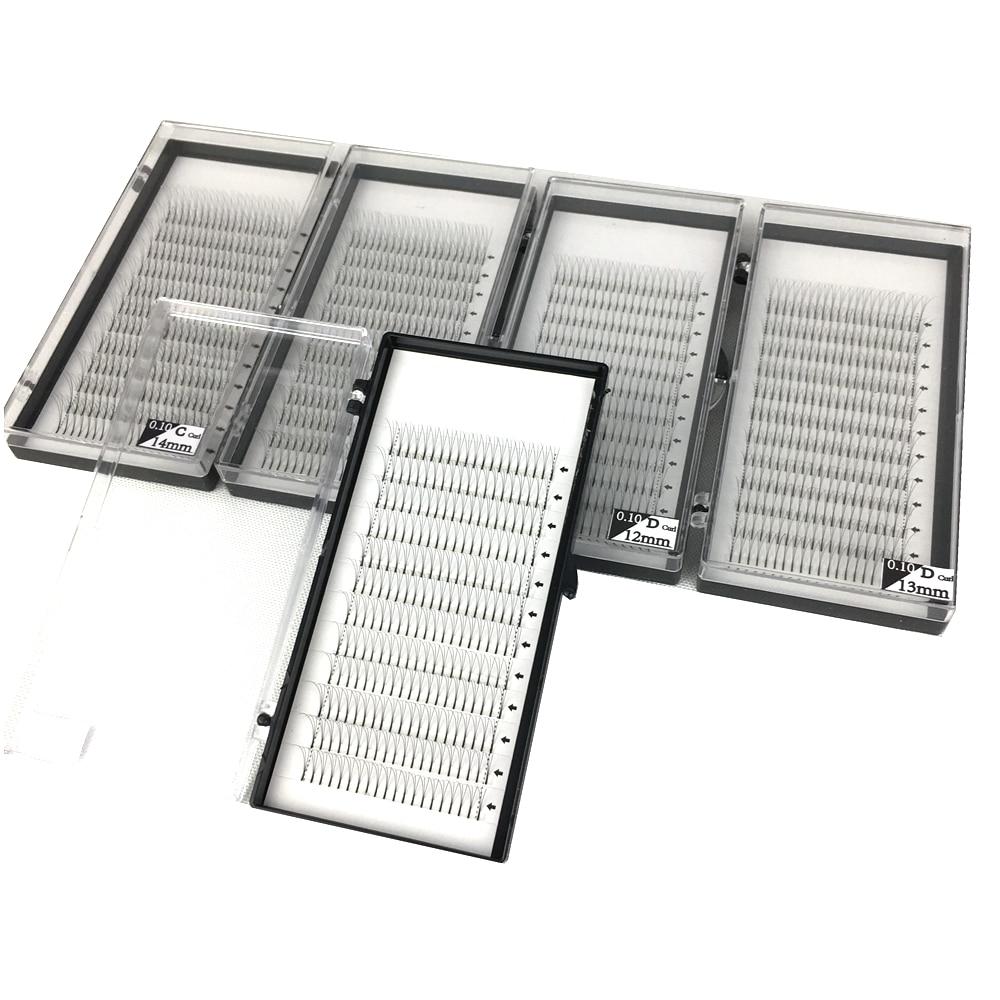 5 Trays/lot High quality Volume Fans 3D Eyelash Extensions 100% handmade Individual Lashes Lash Natural free shipping