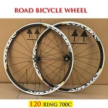 RUJIXU AK EQ COSMIC ELITE HOT Sale 700C 120 Ring Alloy V Brake Wheels bmx Road Bicycle Wheel Aluminium Bicycle Wheels