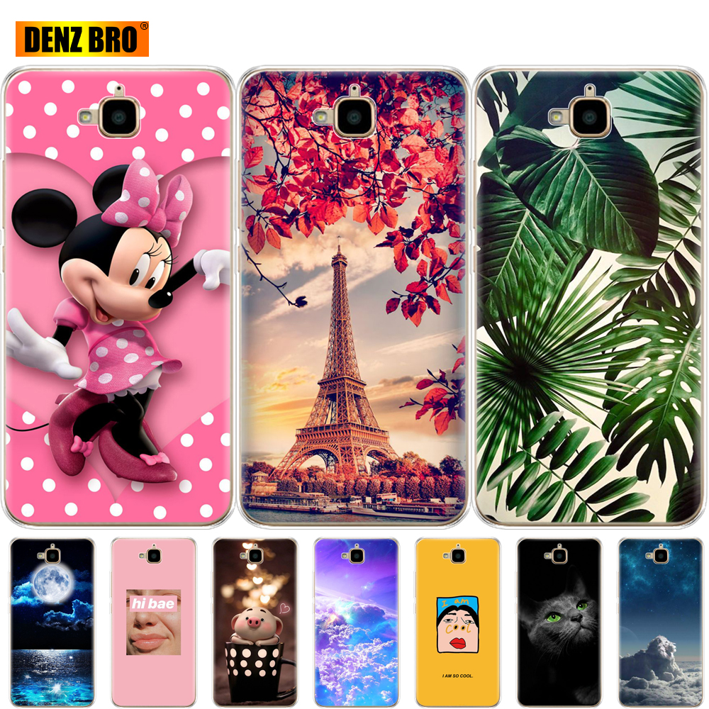 For Huawei Honor 4C Pro Case Cover Print Soft Tpu Silicone Back Phone For Huawei Y6 Pro 2015 Case TIT-L01 TIT-TL00 Coque Bumper