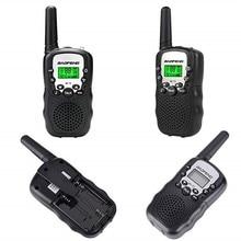 2 шт. детские мини дети UHF BaoFeng Walkie Talkie BF-T3 FRS двухстороннее радио ФИО Comunicador T3 удобно рации КВ трансивер оптовая продажа