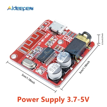 Mini MP3 Bluetooth 4.1 Lossless Decoder Stereo Output Board Car Speaker Amplifier Module Circuit Board Module Micro USB 3.7V 5V image