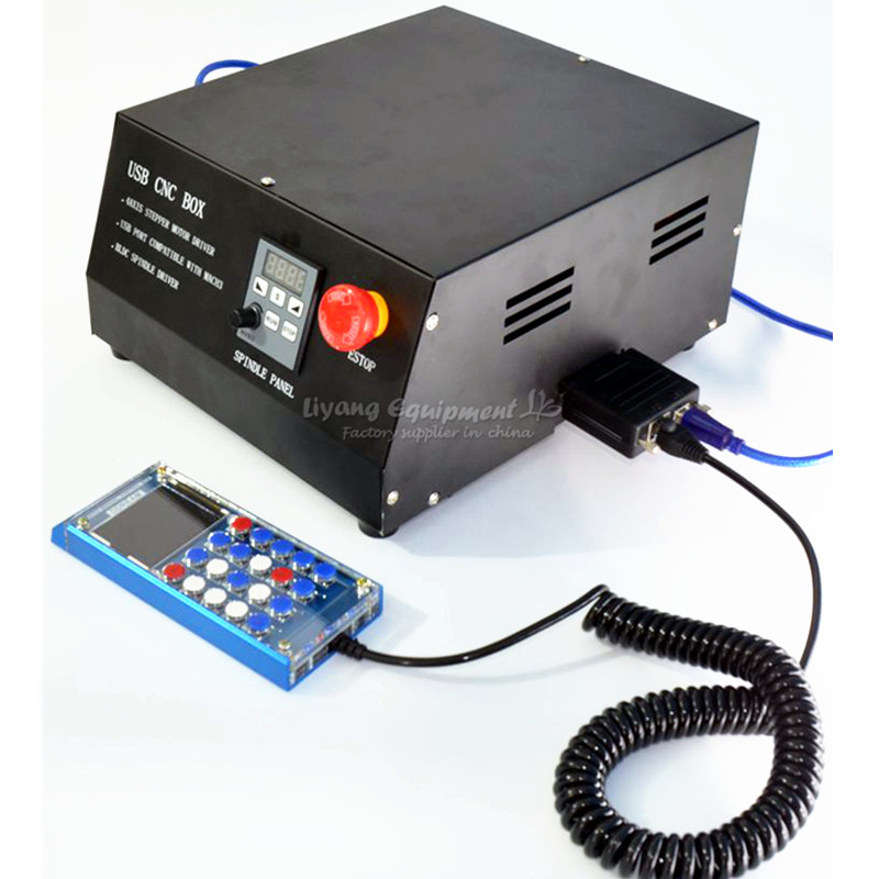 DC Brushless spindle drive 4axis CNC control box MACH3 parallet port for 4 axis CNC engraving machine engraving machine control box usb mach3 dc brushless spindle take nc200 with digital control