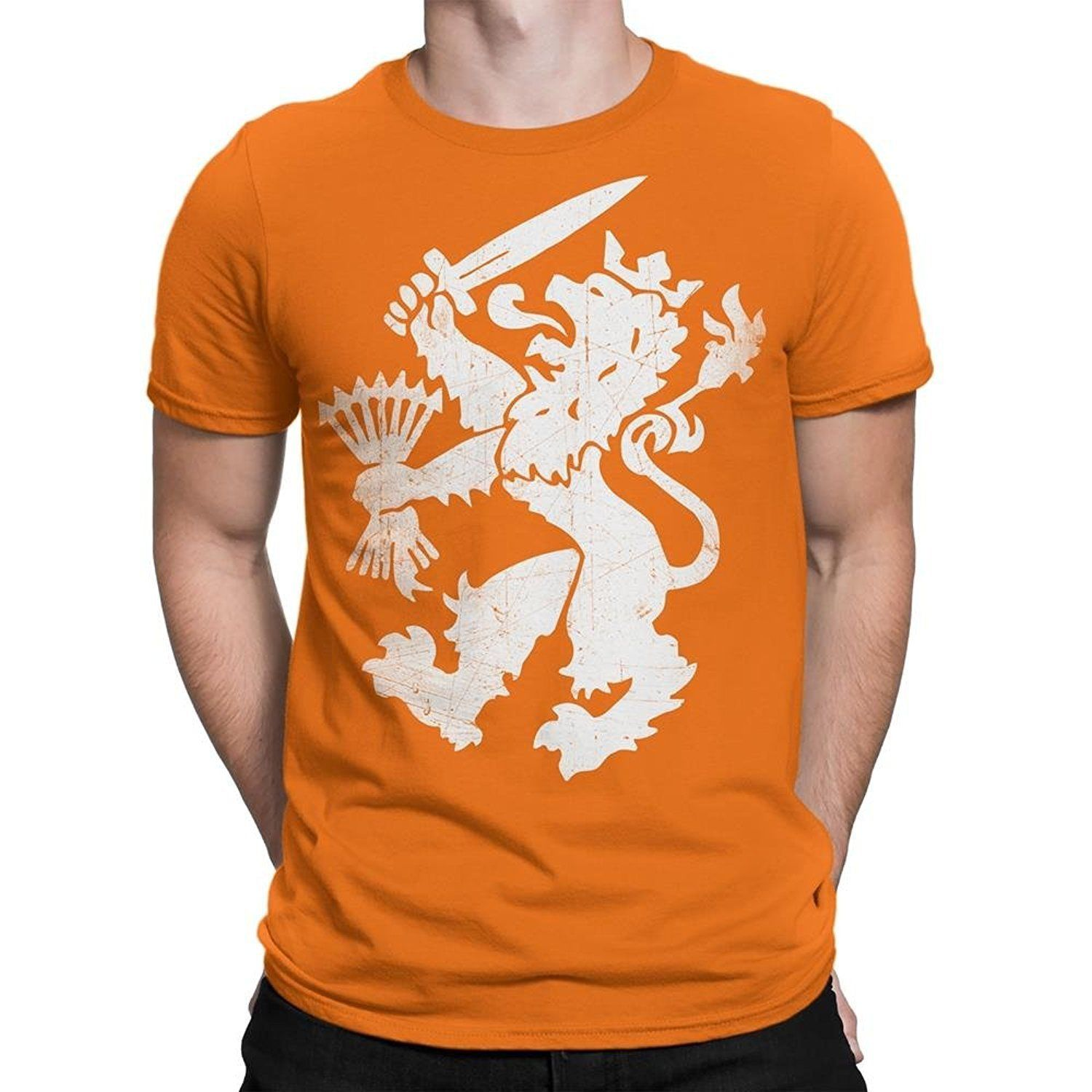 Nyc Factory Netherlands T-Shirt Dutch Oranje Lion Men Tee netherlands-tee-men-b Free shipping Tops Fashion Classic Unique 2