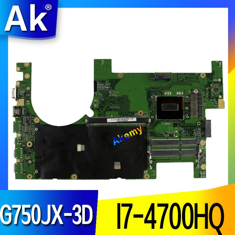 AK G750JX Laptop motherboard for ASUS G750JX G750JW G750JH G750J G750 Test original mainboard 3D I7-4700HQ