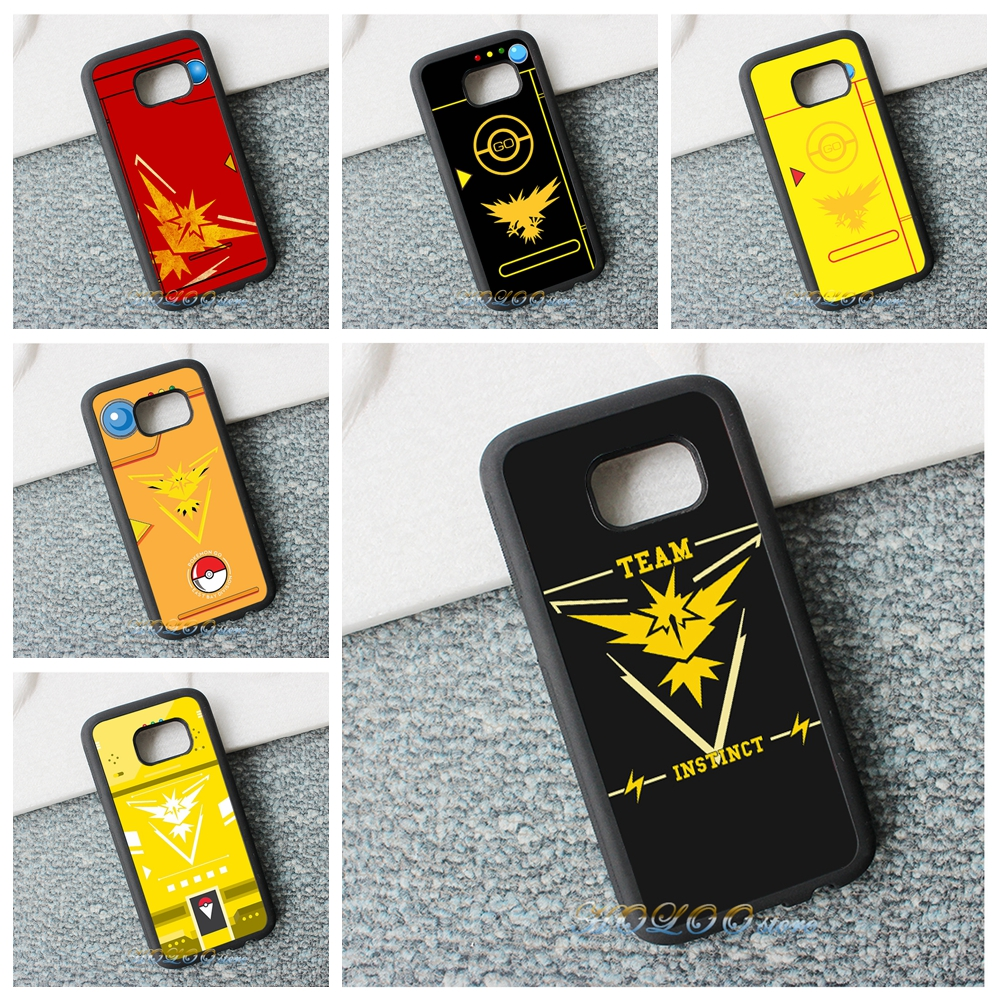 Pics photos batman logo evolution design for samsung galaxy case - Go Team Instinct Pokemon Phone Case Cover For Samsung Galaxy S3 S4 S5 S6 S7 S6