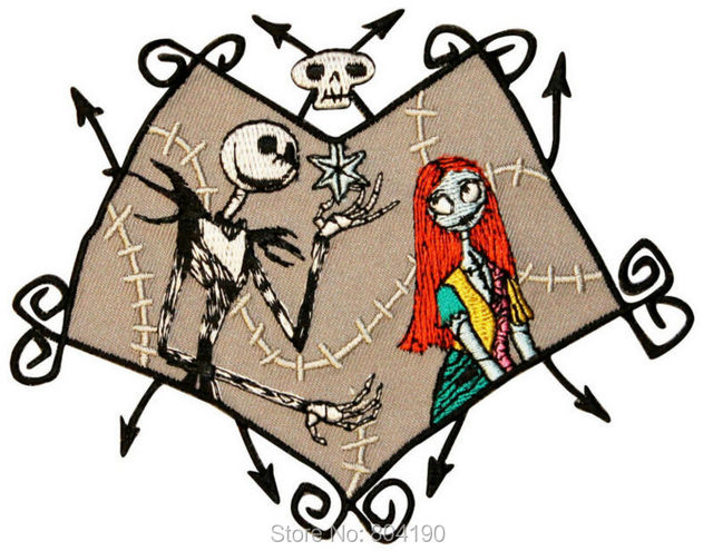 45 nightmare before christmas jack in love kids children felt embroidered iron on patch applique