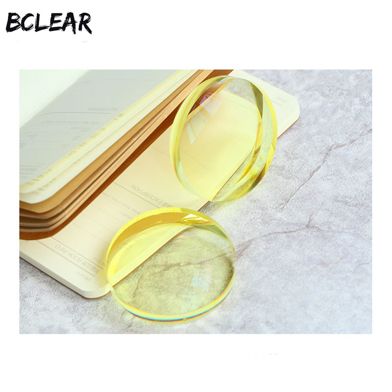 BCLEAR 1.49 Night vision polarized yellow myopia lens driver safe driving special lens customized prescription diopter lenses